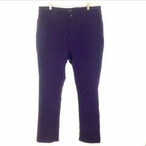 NYDJ Purple Legging High Waisted Jeans 18W